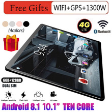 Android Tablet Free Shippin 10.1Inch 6GB+ 128GB WIFI + GPS 4G Tablets  Dual SIM Dual Camera Free Gift