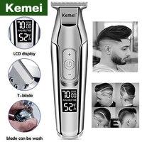 Tagliacapelli elettrico professionale Kemei Trimmer per uomo Display LCD tagliatrice di capelli clipper rasoio tagliacapelli macchina