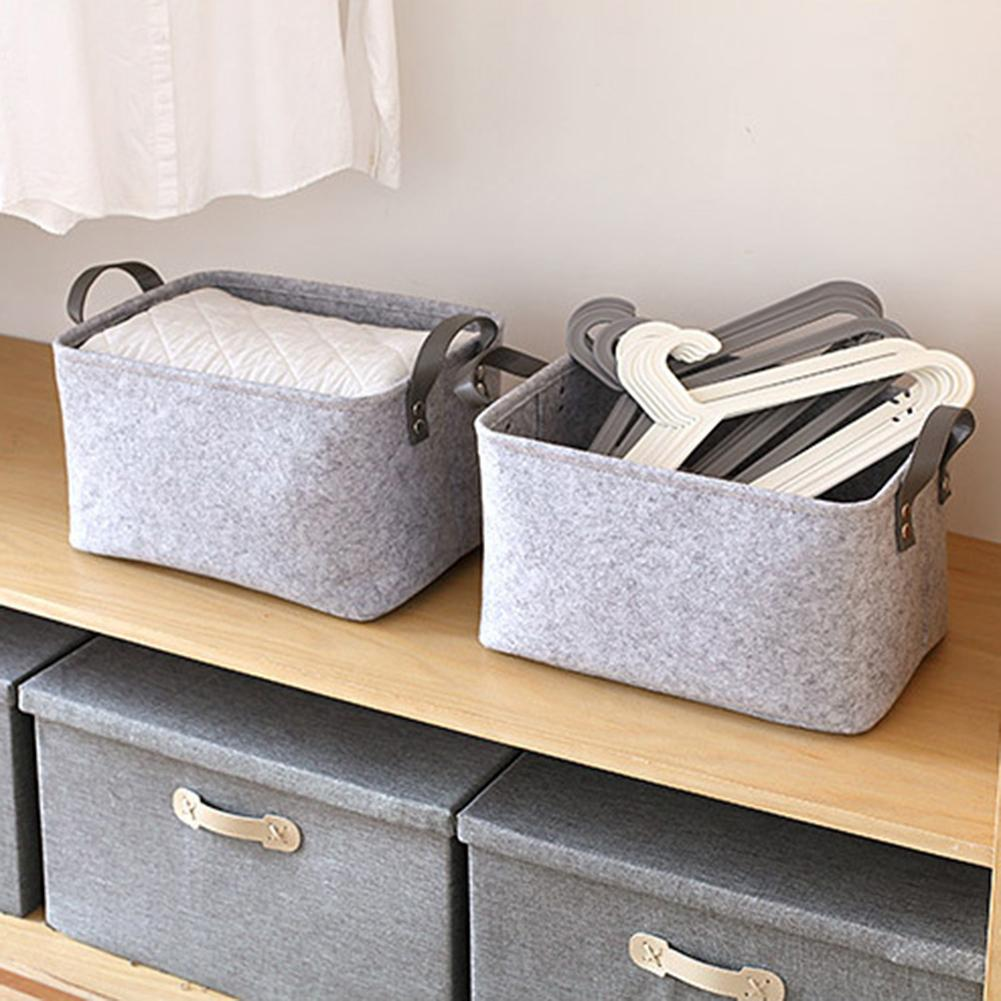 Portable Felt Thicken Baby Diaper Toys Clothes Storage Bag Basket Organizer New Mummy Bag