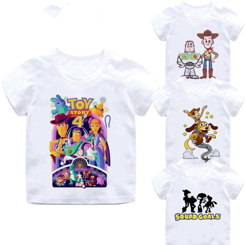 2019 New Toy Story 4 Cartoon Letter Children's T-shirt Cotton Kids T Shirt Buzz Lightyear/Woody Summer Clothes,BAL031