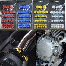 30 pçs da motocicleta parafuso porca tampa capa decoração para yamaha yzf 600r thundercat r1 r6 r25 r3 fz1 fazer fzs 1000s