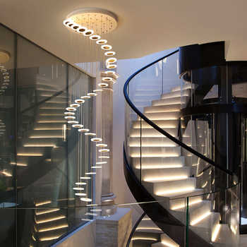 LED staircase chandelier minimalist duplex floor hall fashion Long Chandelier Modern Style led salon lighting modern chandeliers - DISCOUNT ITEM  30% OFF All Category