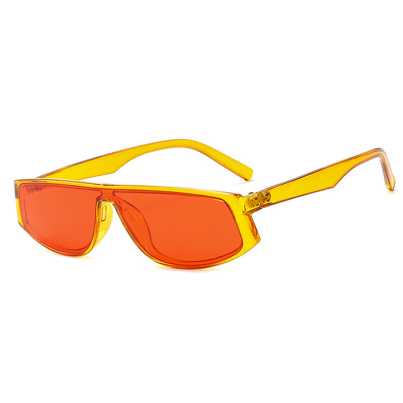 Nuevo naranja dulce Gafas De Sol Punk mujeres Vintage piloto océano degradado personalidad Gafas De Sol hombres lentes oculos Gafas De Sol UV400