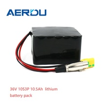AERDU 36V  battery pack 10S3P 42V 10.5Ah Electric car lithium battery pack for ebike electric car bicycle motor scooter