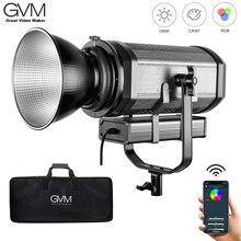 RGB 150S GVM COB RGB pełny kolor światło LED do kamery CRI 95 + TLCI 95 + bi color 2000K 5600K możliwość przyciemniania do fotografia wideo Studio DSLR