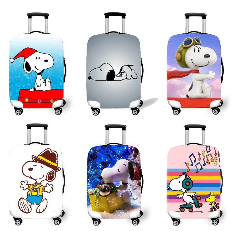 Elastic Luggage Protective Cover Case For Suitcase Protective Cover Trolley Cases Covers 3D Travel Accessories Dog Pattern T2625