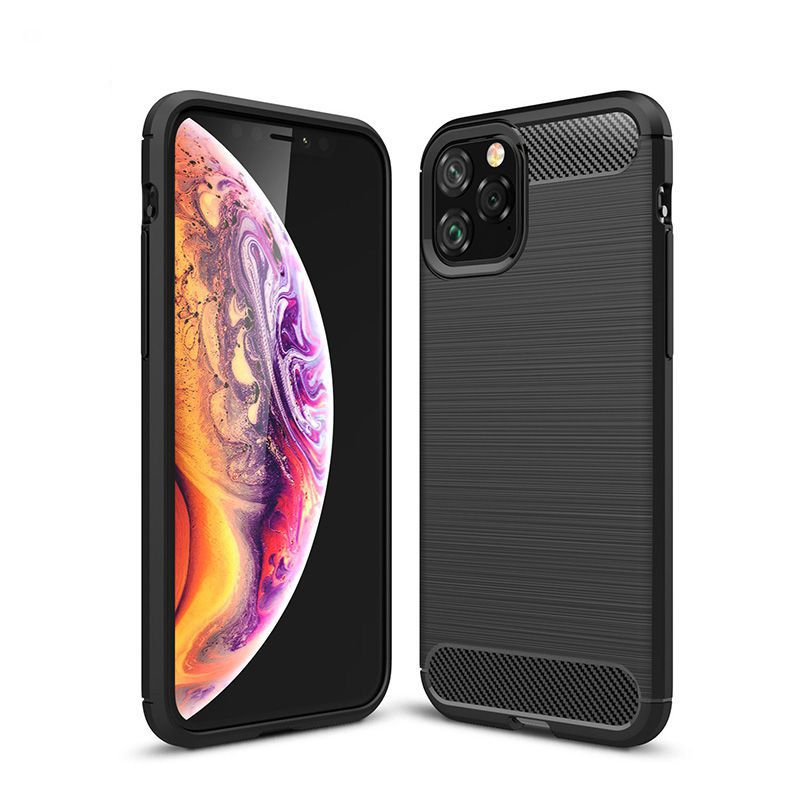 Silicone Soft Case for iPhone X XR XS 11 Pro max Case Carbon Fibre For iPhone 6 6s 7 8 plus Brushed Cover