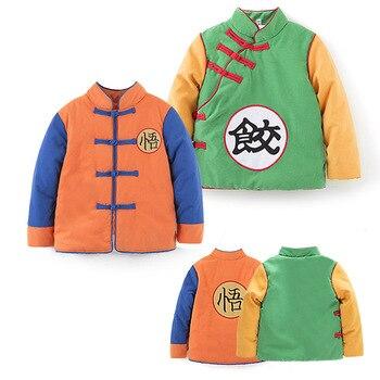 Abrigo de Camisa de algodón para bebé, cálido, Goku, Halloween, disfraces, fiesta, Vestido de juego de rol, accesorios de fotografía