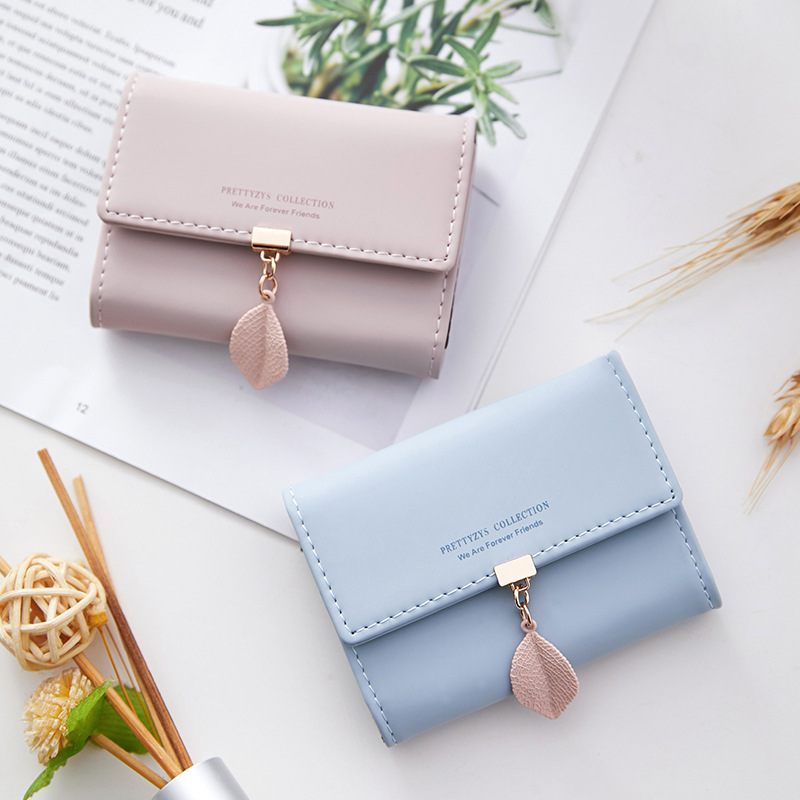 Prettyzys New Style Organ Mini Small Wallet Women's Simple Ultra-Thin Purse One-piece Bag Card Holder