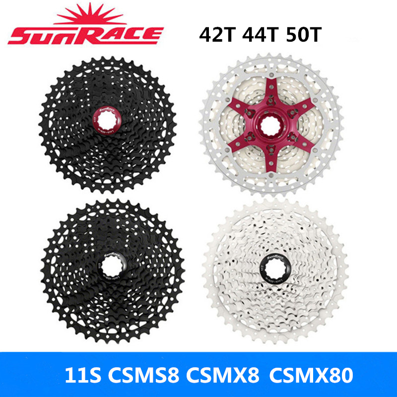 Sunrace <font><b>11</b></font> Speed CSMX80 CSMS8 CSMX8 Bike Cassette <font><b>11</b></font>-50T fits for Shimano SRAM 11S Flywheel <font><b>42T</b></font> 46T 50T image