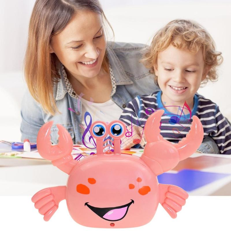 Electric Universal Crab Lele Horizontal Standing Walking Automatic Steering Light Music Toy Skillful Exquisite Appearance
