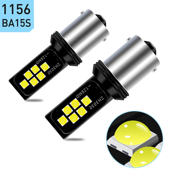 2X P21W 1156 Ba15s 1157 LED Bulb Car Back Up Reverse Light for BMW 3 5 SERIES E30 E36 E46 E34 X3 X5 E53 E70 Z3 Z4 Auto Lamp LED image