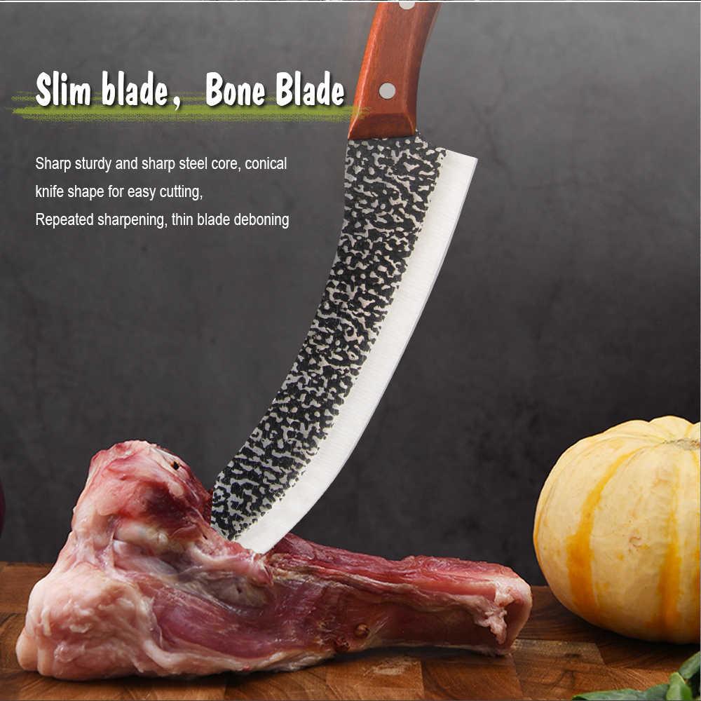 Damast Full Tang Küche Boning Messer Edelstahl Küchenmesser Chef Butcher Fleisch Fisch Gemüse Hackmesser Werkzeuge Geschenk Box