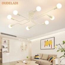 אמנות עכביש תקרת מנורת רטרו אדיסון הנורה בציר לופט עץ תקרת אורות מודרני LED בית סלון דקור גופי