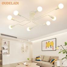 아트 스파이더 천장 조명 레트로 에디슨 전구 빈티지 로프트 나무 천장 조명 현대 LED 홈 거실 장식 설비
