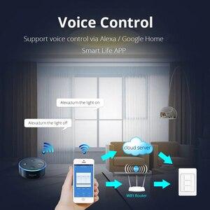 Image 2 - Zemismart WiFi TREO TƯỜNG Đẩy Công Tắc Đèn Làm Việc Với Alexa Google Nhà Cho Phép Tuya Cuộc Sống Thông Minh Ứng Dụng Điều Khiển Mỹ 1 2 3 Băng Đảng
