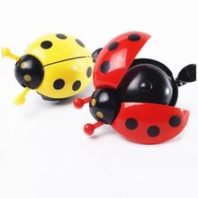 Kids Beetle Ladybug Ring Bell For Cycling Bicycle Bike Ride Horn Alarm Durable bicycle bike handlebar ball air horn trumpet ring bell loudspeaker noise maker free shipping