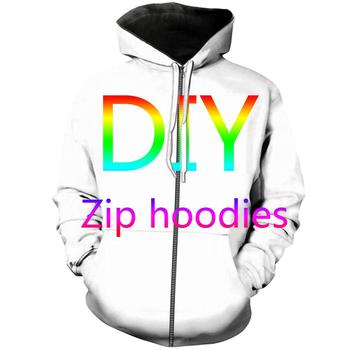 Tessffel custom made DIY customize Unisex Casual Tracksuit Harajuku 3DfullPrint Zipper/Hoodies/Sweatshirt/Jacket/Mens Womens 1