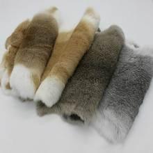 Цельная деталь из натурального кроличьего меха, цельная деталь из пушистого кроличьего меха, украшение для дома, аксессуары для одежды