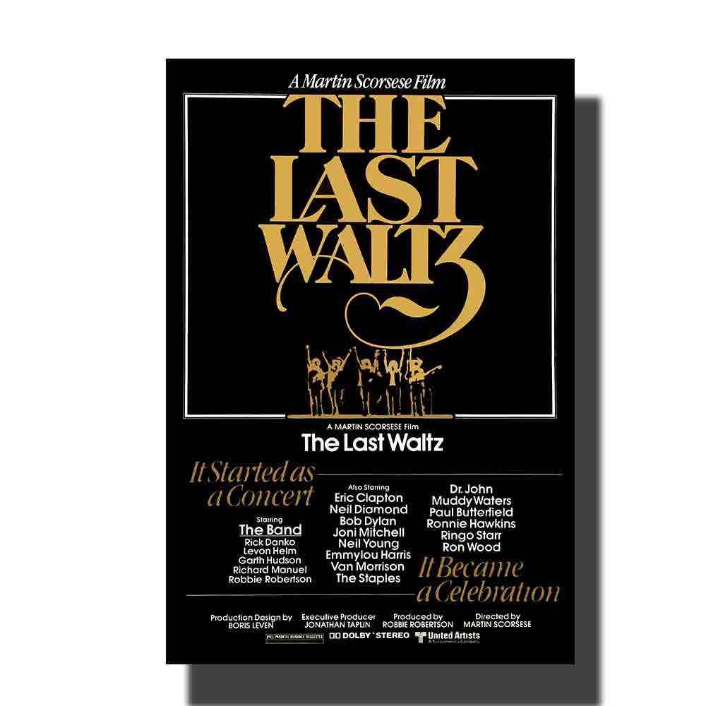 L653 THE LAST WALTZ โปสเตอร์ภาพยนตร์ SS 2002 Re-Release MARTIN SCORSESE ผ้า art 14x21 24x36 พิมพ์ตกแต่งผนังภาพ