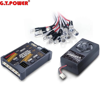 G.T.Power Bluetooth Version RC Car Engine Sound Simulated System / Lights Simulated System For RC Car Axial SCX 10 TRX4
