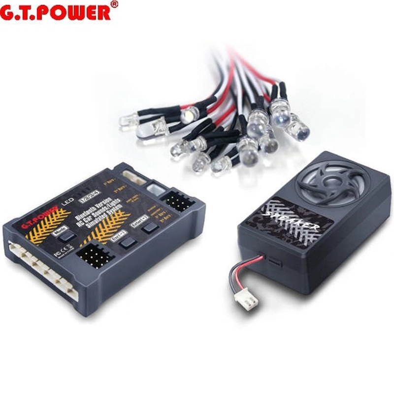 G.<font><b>T</b></font>.Power Bluetooth Version RC Car Engine Sound Simulated System / Lights Simulated System For RC Car Axial SCX 10 TRX4 image