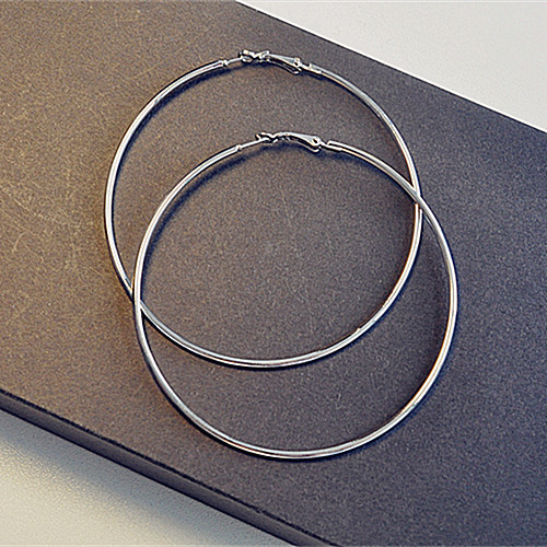 Big Hoop Earring For Women Jewelry Gold Color Silver Color Bohemian Statement Round Punk Earrings Fashion Jewelry