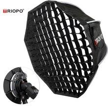 Triopo 90cm Speedlite Portable Softbox w/ Honeycomb Grid Outdoor Flash Octagon Umbrella Soft Box for Canon Nikon Godox Yongnuo