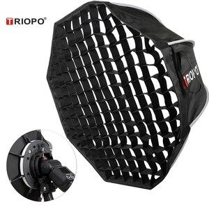 Image 1 - Triopo 90cm Speedlite Portable Softbox w/ Honeycomb Grid Outdoor Flash Octagon Umbrella Soft Box for Canon Nikon Godox Yongnuo