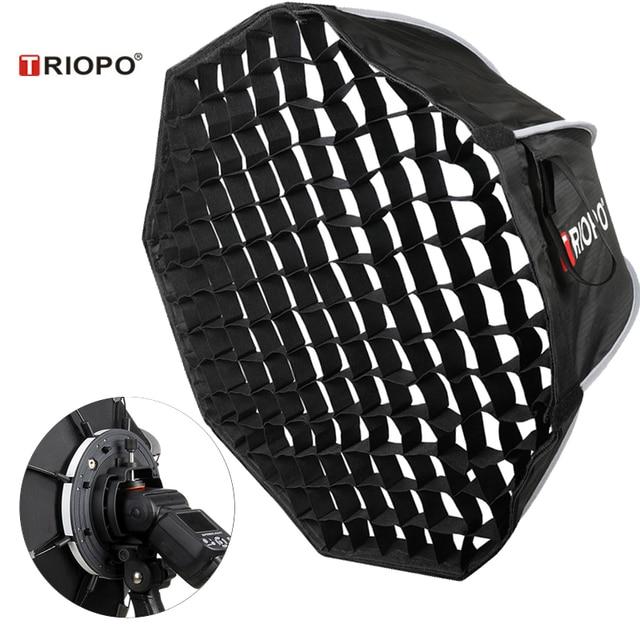 Triopo 90cm Speedlite Tragbare Softbox w/ Honeycomb Grid Outdoor Flash Octagon Dach Weichen Box für Canon Nikon Godox yongnuo