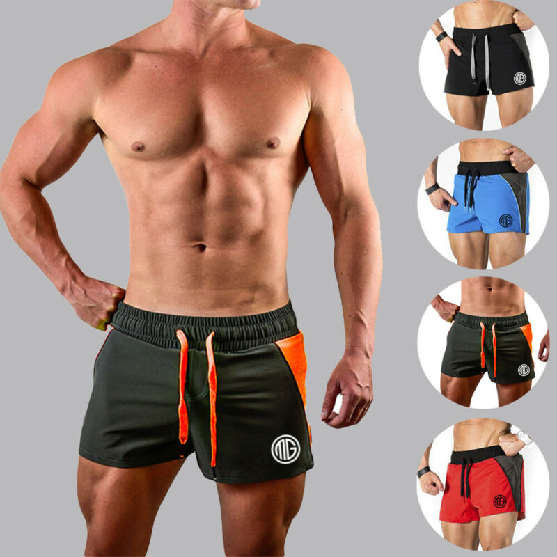 2019 New Men Sports Marathon Shorts Outdoor Bodybuilding Fitness Gym Boxer Men Gym Shorts Straps Breathable Casual Shorts