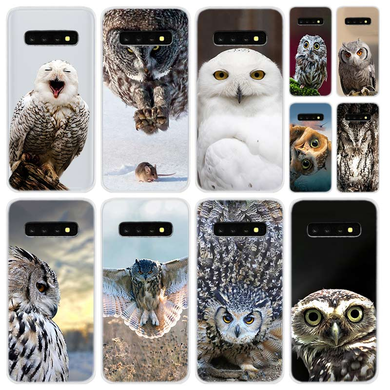 Funda de teléfono transparente para Samsung S9 S8 S10 S20 plus S7 S6 edge funda para Galaxy Note 10 9 Coque fundas blandas Snowy Owl FDGAO 10W cargador inalámbrico rápido para Samsung Galaxy S10 S9/S9 + S8 Nota 9 USB almohadilla de carga Qi para iPhone 11 Pro XS Max XR 8X8 Plus
