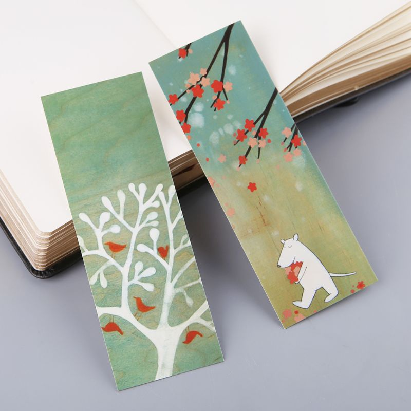 30pcs Creative Chinese Style Paper Bookmarks Painting Cards  Retro Beautiful Boxed Bookmark Commemorative Gifts J6PA