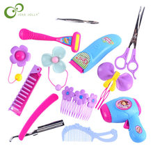 Pretend Play Kid Make Up Speelgoed Roze Make-Up Set Prinses Kappers Simulatie Plastic Toy Haircut Meisjes Dressing Cosmetische Zxh