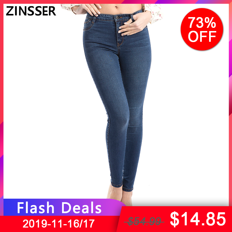 11.11 Autumn Winter Women Denim Skinny Pants Super Stretch Fake Front Pocket Waist  Blue Grey Black  Slim Elastic Lady Jeans