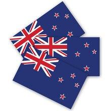 뉴질랜드 국기 범퍼 스티커 3 팩 내구성 방수 소재, 오토바이 헬멧 트렁크 트럭 비닐 데칼