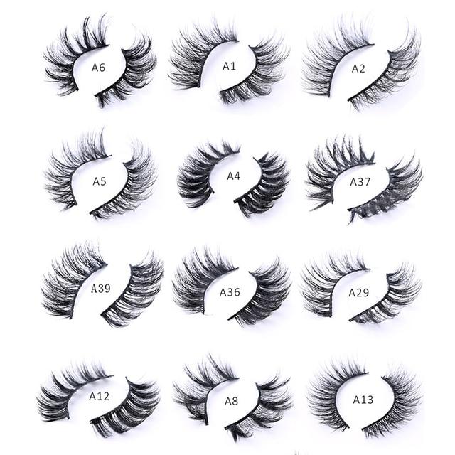 5/8/10 pairs 3D Mink Lashes Natural False Eyelashes Dramatic Volume Fake Lashes Makeup Eyelash Extension Silk Eyelashes 2