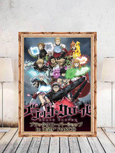 Home Decor Black Clover Prints Painting Japan Animation Pictures Wall Art Modular Aesthetic Canvas Poster Bedside Background
