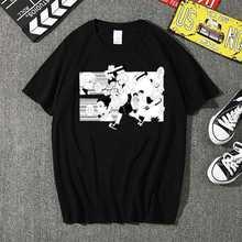 Новинка футболка hunter x мужские кавайные летние топы мультяшная