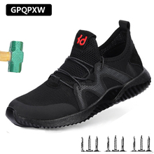 Summer Men's Labor Insurance Shoes Anti-smashing Anti-piercing Safety Shoes Breathable Wear Non-slip Comfortable Work Shoes