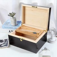 Natural Wooden Jewelry Box Vintage Treasure Gift Display Storage Container Case