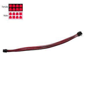 1Pc Sleeved graphics card PCI-E GPU 8 Pin to 6+2 Pin PCI-E Power Extension Cable for BTC 18AWG Power Wire Sleeved 40cm C26(China)