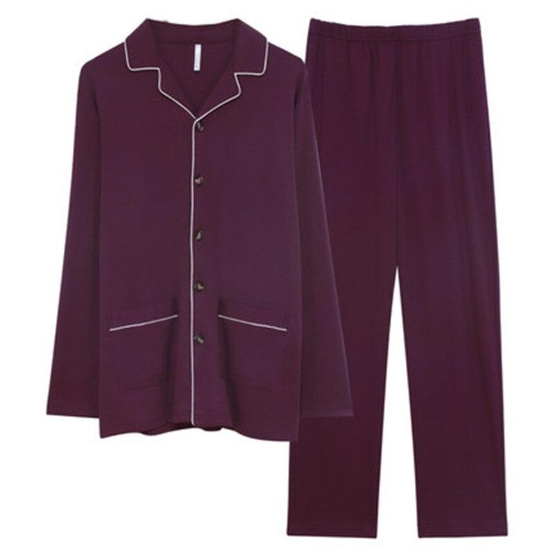 New Pajamas Men's Spring Autumn Cotton Long Sleeve Men's Home Clothes Men's All Cotton Autumn Winter Plus Size Pajama Set