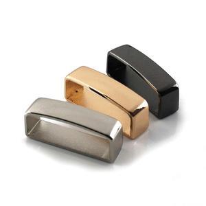 2 Pcs Metal Belt Keeper D Shape Belt Strap Loop Ring Buckle Parts for Leather Craft Bag Strap Belt 40mm