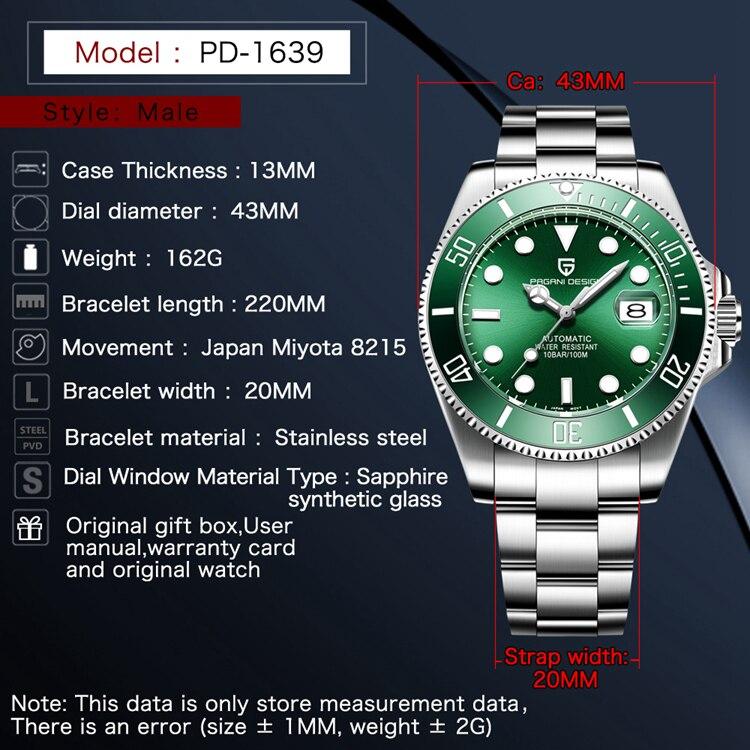 PD-1639,精钢绿面,英文参数