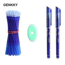 12/13 pçs/set 0.5mm azul preto tinta gel caneta borracha haste de recarga apagável caneta lavável lidar com escola escrita papelaria gel tinta caneta