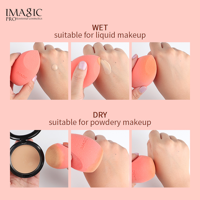 Makeup Cosmetic Puff Foundation Powder Blend Sponge Smooth Professional Women Make Up Sponge Puff Multi Shape Bigger in Water 4