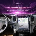 Автомобильный DVD-плеер Tesla для Toyota Land Cruiser 200 (2007-2015), автомагнитола, мультимедийный видеоплеер, навигация GPS, Android 10,0, двойной din
