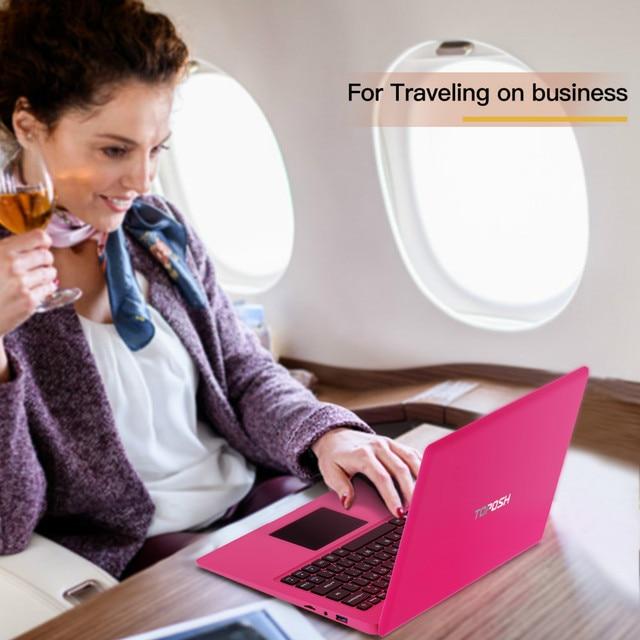 12.5 Inch Pink Laptop Notebook PC 4GB RAM + 64GB SSD Intel Celeron N3350 Ultrabook Dual-Core 2.40 GHz Small Laptops Mini Netbook 6