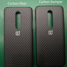 thin carbon fiber bumper back cover for OnePlus 7 pro case o